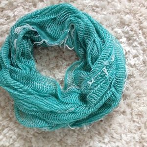 Infinity Scarf Tiffany Blue Open Weave